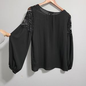 Alyx black lace shoulder top long-sleeved …